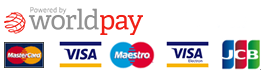 Payments by World Pay - Visa, Maestro, Mastercard, American Express, PayPal