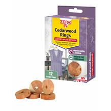Zero In Cedarwood Clothes Moth Repeller Rings Pack 12