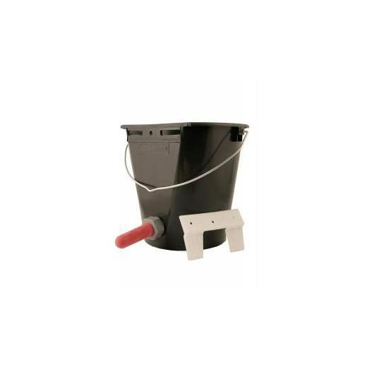 CALF BUCKET WITH TEAT AND VALVE