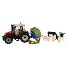 BRITAINS MASSEY FERGUSON 5612 TRACTOR PLAY SET