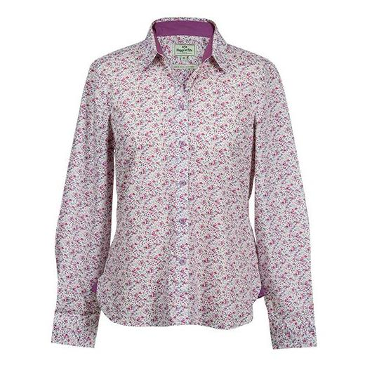 BELLA LADIES FLORAL SHIRT LAVENDER/PINK