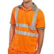 POLO SHIRT ORANGE HI-VIS
