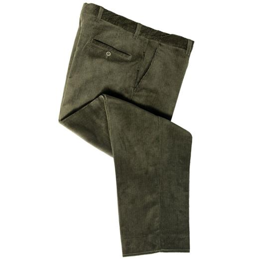 HOGGS MID-WEIGHT CORD TROUSERS OLIVE