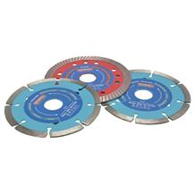 "Faithfull 115mm / 4.1/2"" Diamond Blade Bonus Pack"