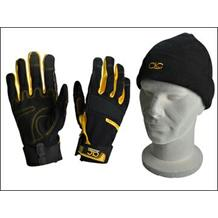 CLC Flexible Construction Gloves with Beanie Hat