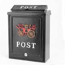 Aluminium post box with carriage design