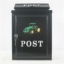 GREEN TRACTOR POST BOX