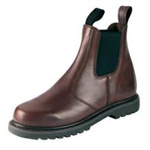 HOGGS SHIRE DARK BROWN SLIP ON BOOTS