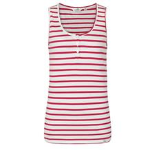 STRIPED SLEEVELESS VEST TOP CERISE