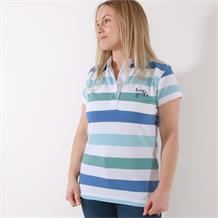 STRIPED POLO SHIRT TURQUOISE