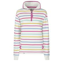 STRIPED 1/4 ZIP SWEATSHIRT PERIWINKLE MU