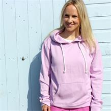 PLAIN PULL ON HOODY CHALKY PINK