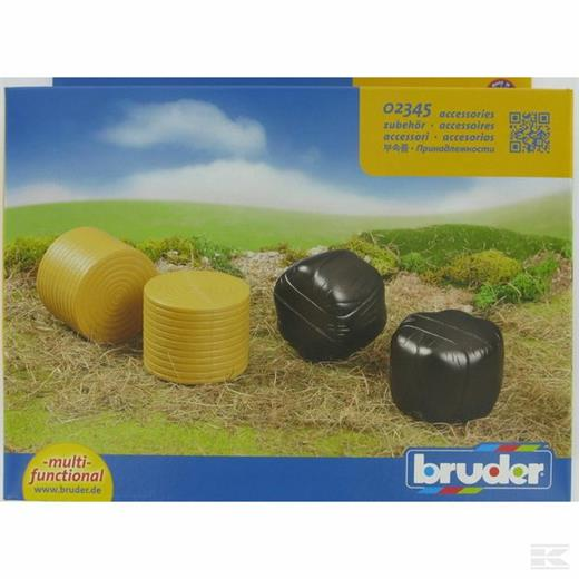 BRUDER ASSORTED ROUND BALES  (4 pcs)