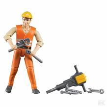 BRUDER CONSTRUCTION WORKERS AND ACCESSORIES