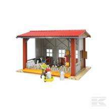 BRUDER COW SHED WITH ACCESSORIES