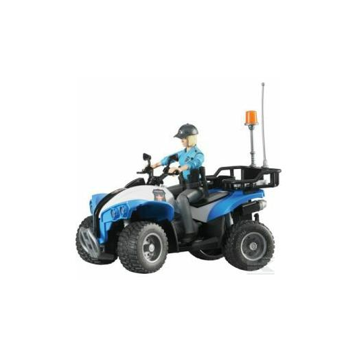 BRUDER POLICE QUAD WITH POLICE WOMAN