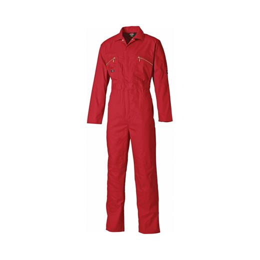 DICKIES RED COVERALLS ZIP
