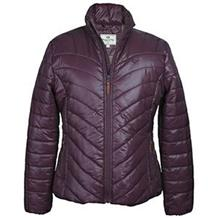 WILTON LADIES PADDED JACKET DARK PLUM